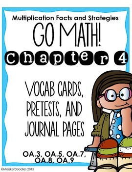 Go Math! 3rd grade Chapter 4 Resource Kit: Vocab cards, Pr
