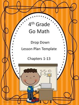 Go Math 4th Grade Drop Down Lesson Plan Template
