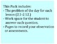 Go Math 4th Grade Problem of the Day Chapters 2-4 Workshee