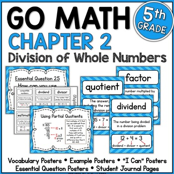 Go Math Chapter 2 5th Grade Resource Packet - Division of
