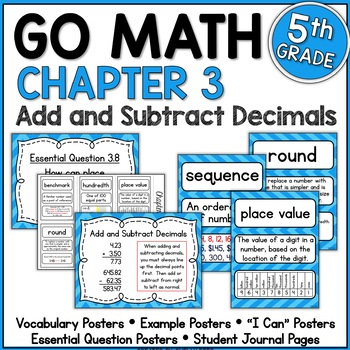 Go Math Chapter 3 5th Grade Resource Packet - Add and Subt