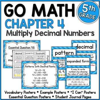 Go Math Chapter 4 5th Grade Resource Packet - Multiply Decimals