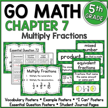 Go Math Chapter 7 5th Grade Resource Packet - Multiply Fractions