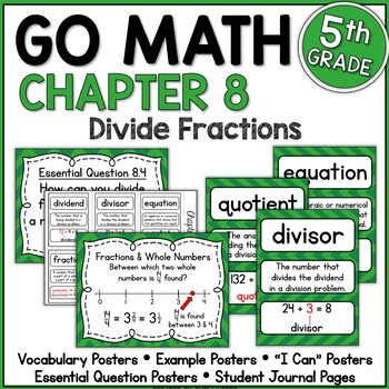 Go Math Chapter 8 5th Grade Resource Packet - Fraction Division