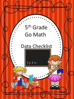 Go Math 5th Grade Data Checklists