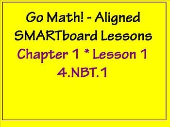 Go Math Aligned - Chapter 1 Lesson 1  4.NBT.1 Freebie