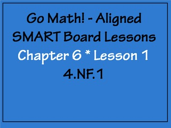 Go Math Aligned - Chapter 6 Lesson 1  Equivalent Fractions 4.NF.1