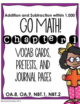 Go Math! Third Grade Chapter 1 Resource Kit: Pretest, Voca