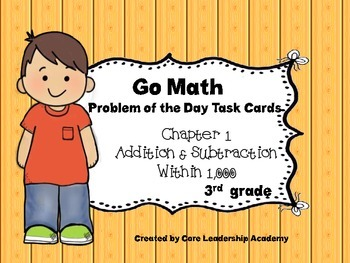 "Go Math Chapter 1 ""Problem of the Day"" Task Cards"