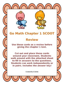 Go Math Chapter 1 Review SCOOT