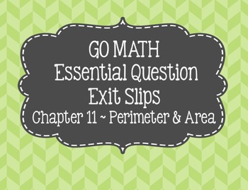 Go Math Chapter 11 Essential Questions