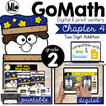 Go Math! Chapter 4 Centers for Second Grade