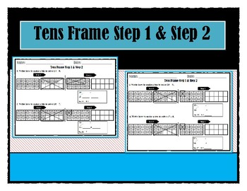 """Go Math"" Chapter 4 Tens Frame Step 1 & Step 2"