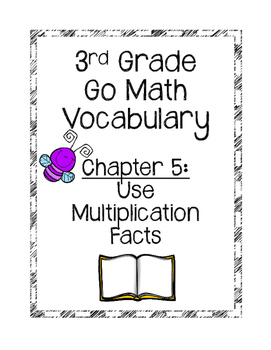 **Freebie**Go Math Chapter 5 Vocabulary Cards