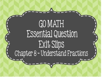 Go Math Chapter 8 Exit Slips