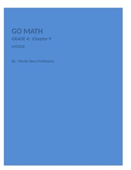 Go Math Chapter 9 ---4th grade