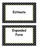 Fourth Grade Go Math, Common Core Aligned, Vocabuary Cards