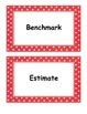 Fifth Grade Go Math, Common Core Aligned, Vocabulary Cards
