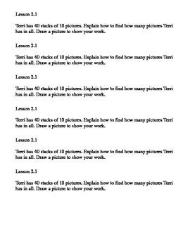 Go Math Common Core Journal Performance Tasks Ch. 2
