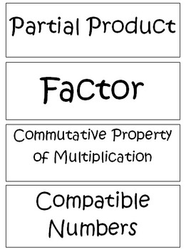 Go Math Complete Word Wall - 4th grade
