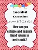 "Go Math ""Essential Question""~ Chapter 10"