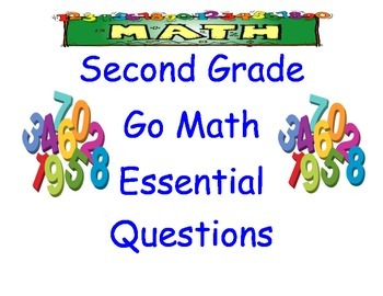 Go Math Essential Questions Second Grade Poster