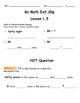 Go Math Exit Slip Lesson 1.5