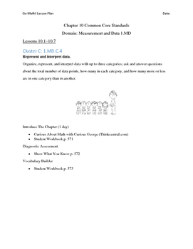 Go Math - First Grade Lesson Plans - Chapter 10
