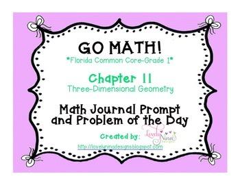 GoMath!(1st grade)FLA Common Core Ch. 11 Journal Prompts &