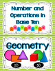 Go Math Focus Wall Domain Cards Only - Kindergarten