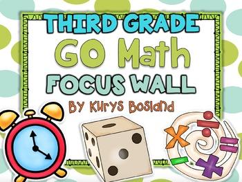 Go Math Focus Wall - Third Grade {Entire Year} {Common Cor