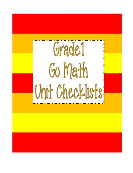 Go Math Grade 1 Checklists