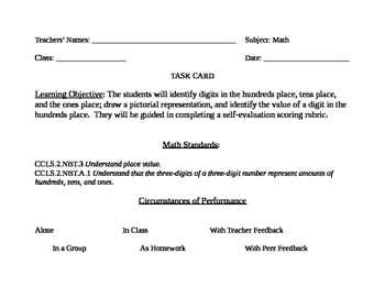 Go Math! Grade 2 Bulletin Board Task Card for October Port