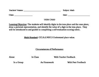 Go Math! Grade 2 Bulletin Board Task Card for September Po