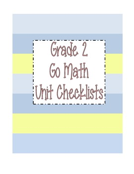 Go Math Grade 2 Checklists