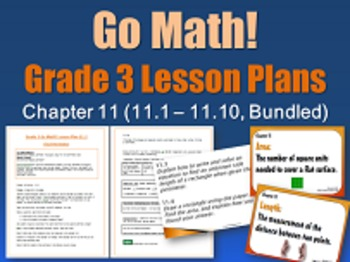 Go Math Grade 3 Chapter 11 (Lessons 11.1-11.10 w/ Journal