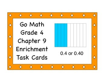 Go Math Grade 4 Chapter 9 Enrichment Task Cards