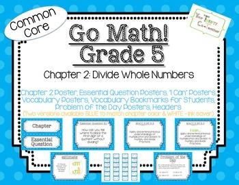 Go Math! Grade 5 Chapter 2 Essential Question, Vocabulary,
