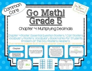Go Math! Grade 5 Chapter 4 Essential Question, Vocabulary,