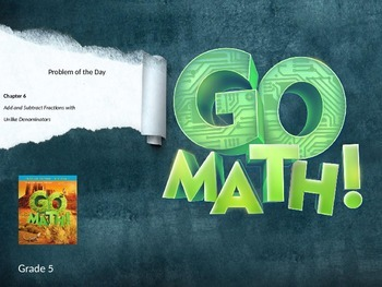 Go Math Grade 5 Chapter 6 Problem of the Day Powerpoint