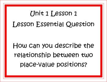 Go Math Grade 5 Unit 1 Essential Questions