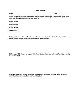 Go Math Grade 5 Unit 6 Review Problems