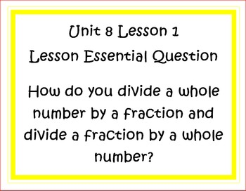 Go Math Grade 5 Unit 8 Essential Questions