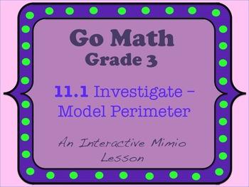Go Math Interactive Mimio Lesson 11.1 Investigate - Model