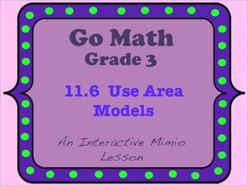 Go Math Interactive Mimio Lesson 11.6 Use Area Models