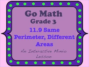 Go Math Interactive Mimio Lesson 11.9 Same Perimeter, Diff