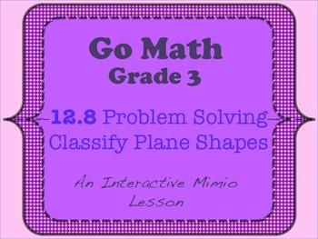 Go Math Interactive Mimio Lesson 12.8 Problem Solving - Cl