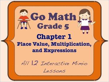 Go Math Interactive Mimio Lesson Ch 1 Place Value, Multipl