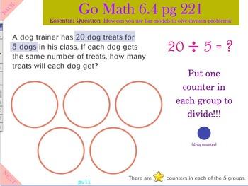 Go Math Interactive Mimio Lesson 6.4 Model Division with B