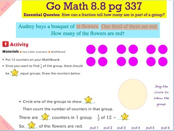 Go Math Interactive Mimio Lesson 8.8 Find Part of a Group